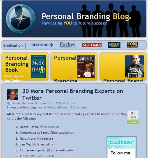 Personal Branding Blog